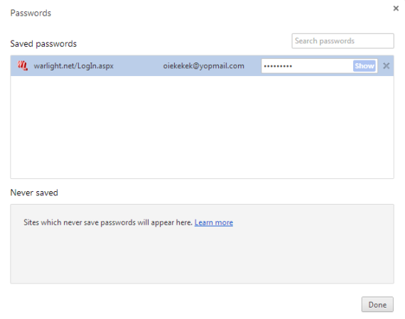 how to see google chrome passwords